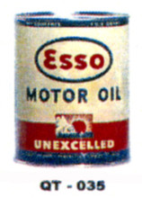 Esso Unexcelled  Motor Oil Cans - Quantity Of Six Cans