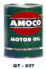 Amoco Motor Oil Cans - Quantity Of Six Cans