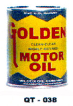 Golden Motor Oil Cans - Quantity Of Six Cans