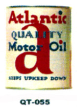 Alantic Motor Oil Cans - Quantity Of Six Cans