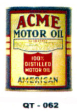 Acme Motor Oil Cans - Quantity Of Six Cans