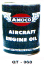 Amoco Aircraft Motor Oil Cans - Quantity Of Six Cans