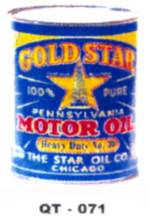 Goldstar Penn Motor Oil Cans - Quantity Of Six Cans