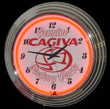 Cagiva Motorcycle Neon Clock