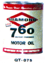 Diamond 760 Motor Oil Cans - Quantity Of Six Cans