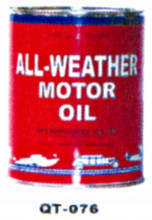 All Weather Motor Oil Cans - Quantity Of Six Cans