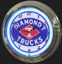 Diamond T Trucks Neon Clock