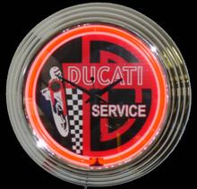 Ducati Service Neon Clock