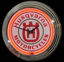 Husqvarna Motorcycle Neon Clock
