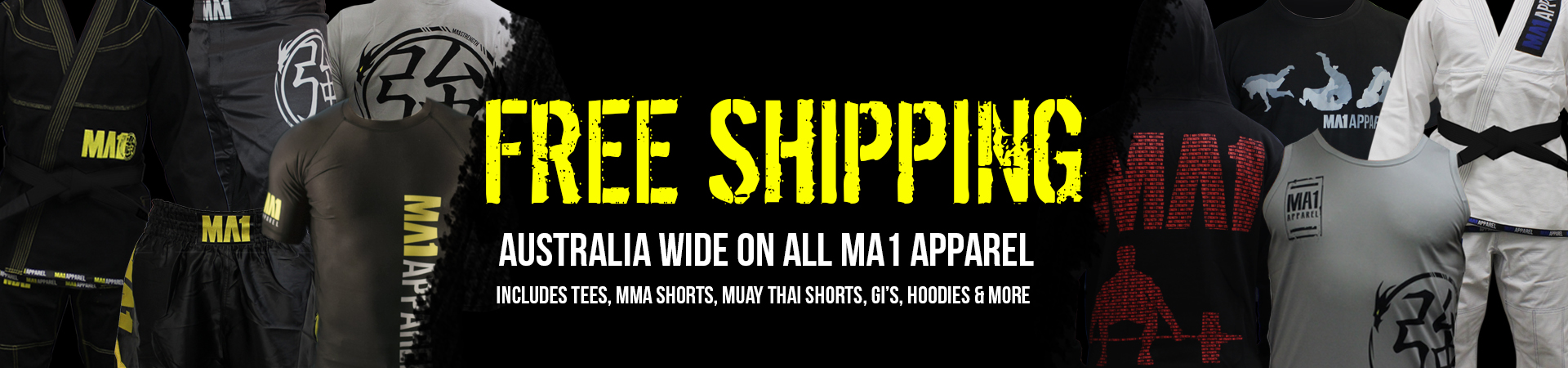 Free Shipping on All Apparel Items