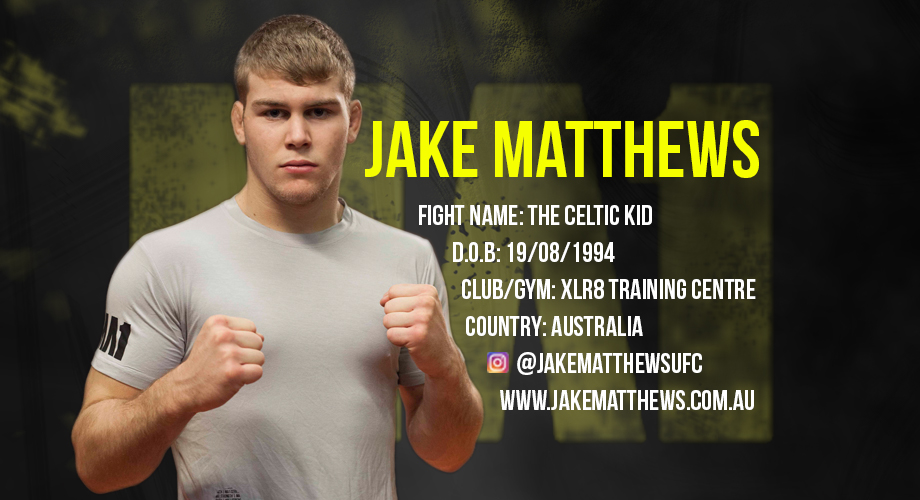 Jake Matthews | The Celtic Kid | XLR8 Training Centre | MA1 | Athlete