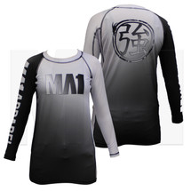 MA1 Kids Long Sleeve Rash Guard - Gradient White - Main