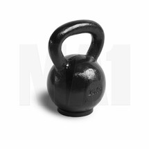 Black Cast Iron Kettlebell with Rubber Base - 20kg
