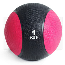 1kg Rubber Medicine Ball - Red