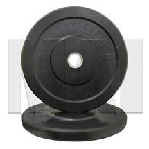 10kg Black Rubber Bumper Plate (Pair)