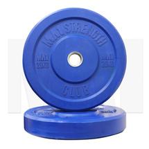 20kg Coloured Rubber Bumper Plate (pair) - Blue