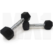 2kg Rubber Hex Dumbbell (Pair)