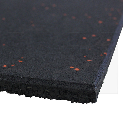 Black Rubber Flooring with Red Speck