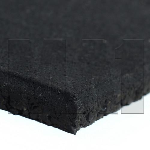 Plain Black Rubber Flooring Close Up