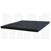 MA1 25mm Rubber Tile - 50cm x 50cm, Black