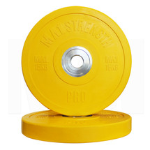 MA1 Pro Bumper Plates Colored 15kg Yellow (Pairs)