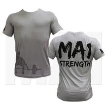 MA1 Strength Weightlifting Bamboo Tee - Grey (MA1-TS-STR)