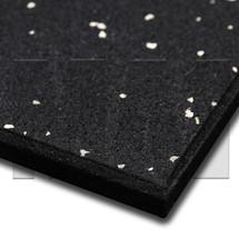 MA1 Premium Rubber Gym Mat - 1m x 1m x 15mm - White Speck - Close up
