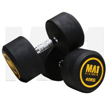 MA1 Commercial Rubber Dumbbells - 40kg