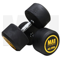 MA1 Commercial Rubber Dumbbells - 42.5kg