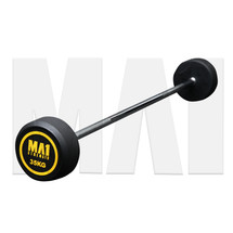MA1 Premium Fixed Rubber Barbell 35kg
