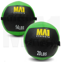 RX Wall Ball. Recommended WOD weights:  14lb Wall Ball for Women &  20lb Wall Ball for Men. Ideal for WOD workouts, functional strength and conditioning training. Ideal addition for gyms and pt studios.