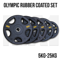 MA1 Pro Olympic Rubber Coated Weight Plate Package