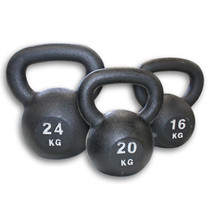 Budget Classic Iron Cast Kettlebells - Heavy Set, 16kg, 20kg & 24kg