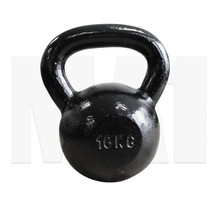 MA1 Black Cast Iron Club Grade Kettlebell 16kg