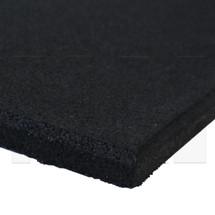MA1 Premium Rubber Gym Mat - 1m x 1m x 15mm - Jet Black
