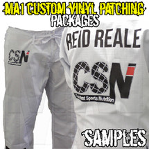 Custom Vinyl Patching for Kimono Packages - Reid Reale Sample