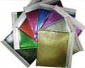 Metallic Self Seal Bubble Mailers Envelopes. Black, Blue, Fuchsia, Gold, Green, Purple, Red, Silver, & Translucent Silver Foil Blingvelopes