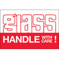 """Glass - Handle With Care!"" Shipping and Handling Labels"