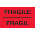 "3"" x 5"" - ""Fragil"" (Fluorescent Yellow) Bilingual Labels"