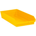 "23 5/8"" x 11 1/8"" x 4"" Yellow Plastic Shelf Bin Boxes"