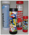 """2 1/2"""" x 14"""" Clear Plastic Mailing Tubes with End Caps"""