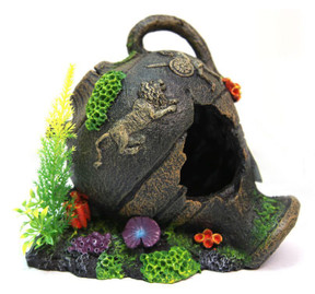 Aqua One Jar with Coral Ornament - Large (36705)
