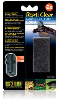 Exo Terra Repti Clear F150 Compact Filter Foam (2pk) (PT2096)