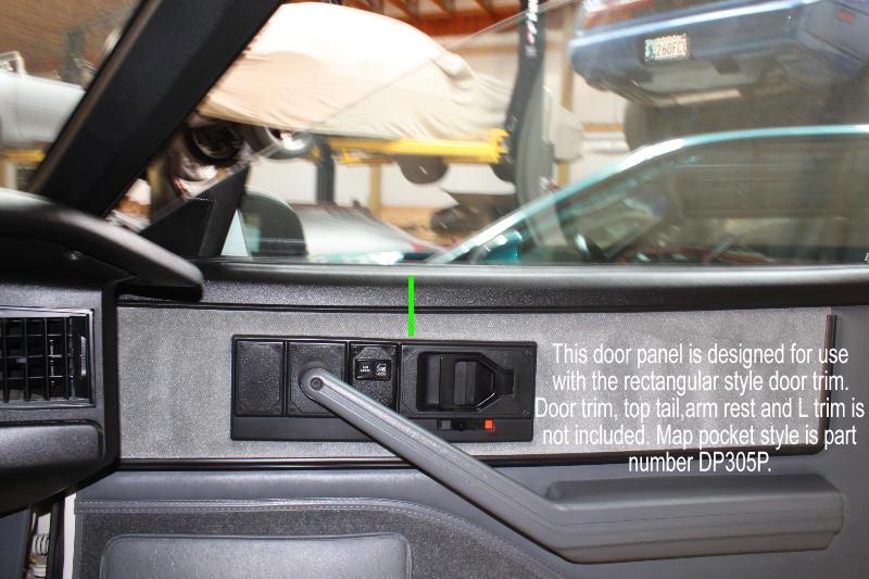 firebird 82 90 door panel set new replacement hawks. Black Bedroom Furniture Sets. Home Design Ideas