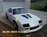 Hood, Camaro 85-92 Z28/IROC Hood, New or Used
