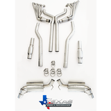 """2010-2015 Camaro SS  2"""" Long Tube Headers, Off-Road X-Pipe w/02 Extensions, TSP"""