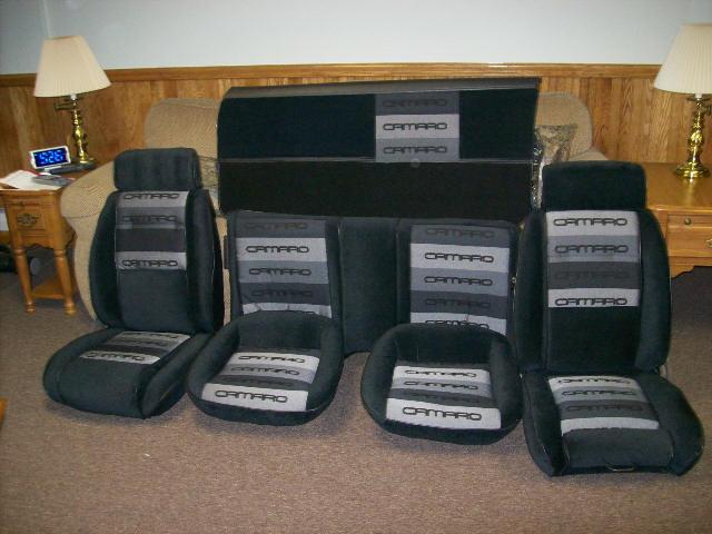 Lear Siegler 83 86 Camaro Custom Seat Upholstery W Solid Rear Back Hawks Third Generation