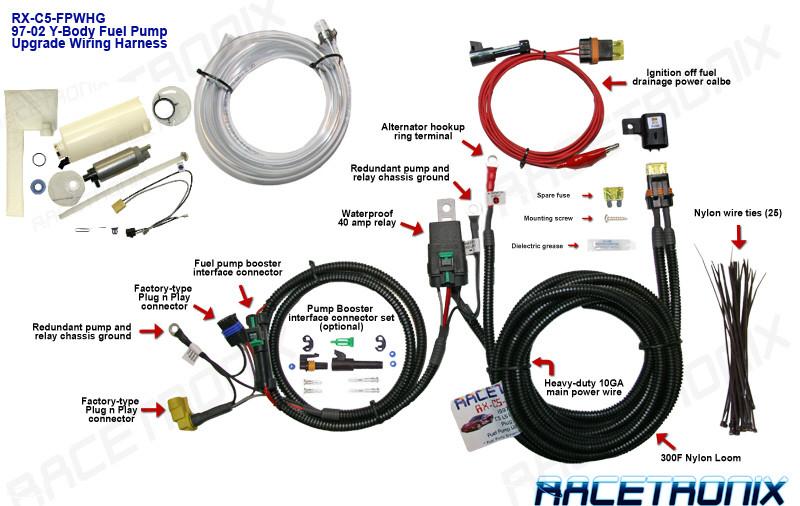 Fuel Pump Kit  Racetronix 1997-2003 Corvette C5 Fuel Pump  U0026 Wiring Harness Kit