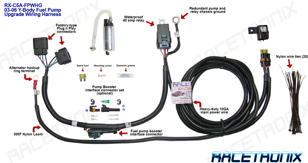 RX C5A FPHW1__92045.1347037258.1280.1280?c=2 fuel pump kit, racetronix 2003 & up corvette c5 & c6 fuel pump corvette wiring harness at aneh.co