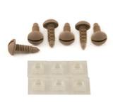 82-88 Camaro/Firebird Interior Hatch Screw and Retainer Nuts Kit (QTY. 6), Camel Tan